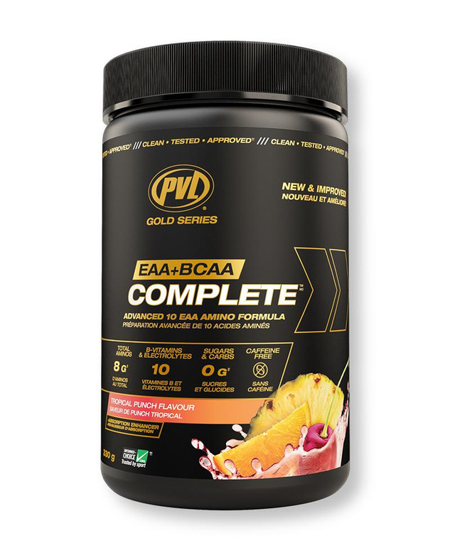 PVL Gold Series EAA+BCAA Complete Tropical Punch 330g