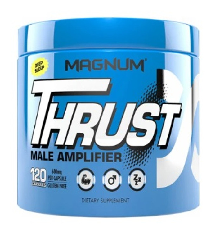 Magnum Thrust Male Enhancer Natural Testosterone Booster 120 Capsules PCT Post Cycle Therapy Libido Stamina Drive BloodFlow Energy
