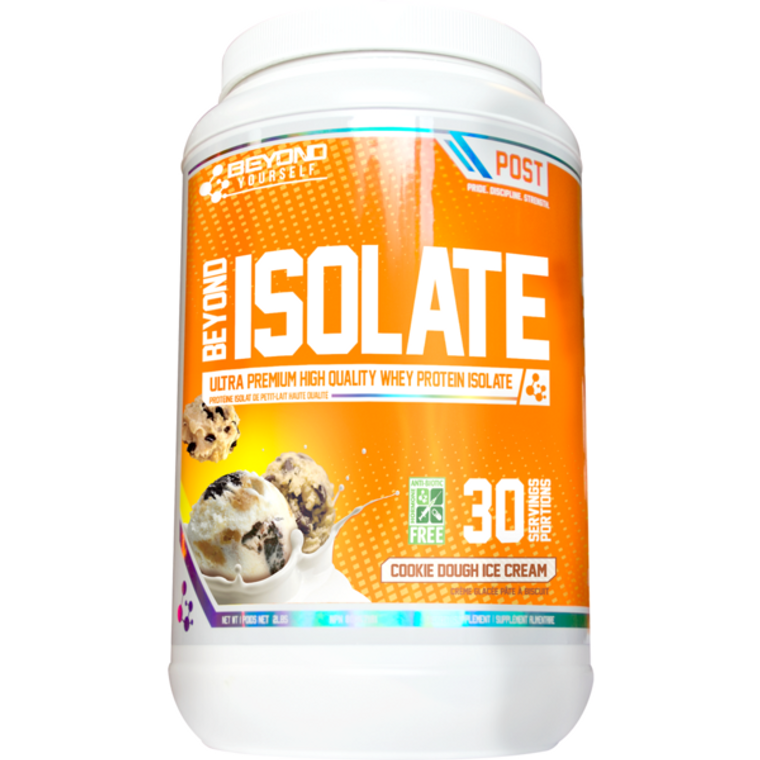 Beyond Yourself Isolate 2lbs Whey Protein Isolate Sweetened With Stevia Cookie Dough Ice Cream 30 Servings