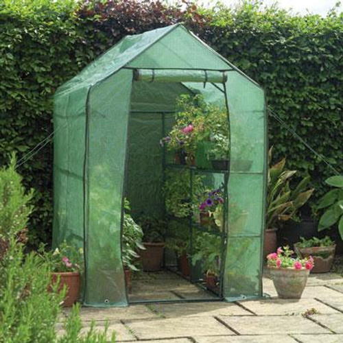 WalkIn Greenhouse With Shelves