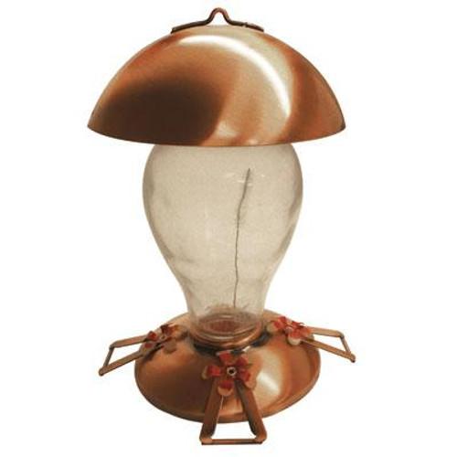 Copper Glass Hummingbird Fdr