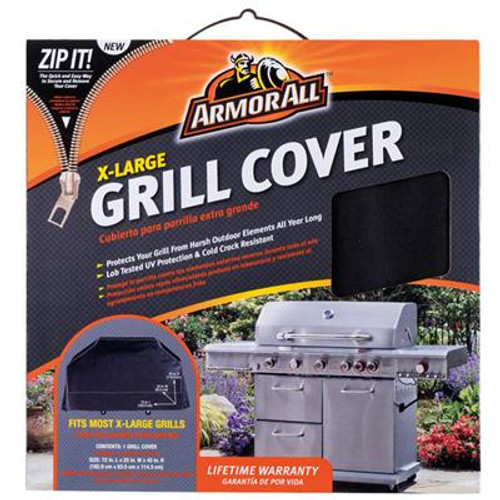 AA Grill Cover 72x25x45 Blk
