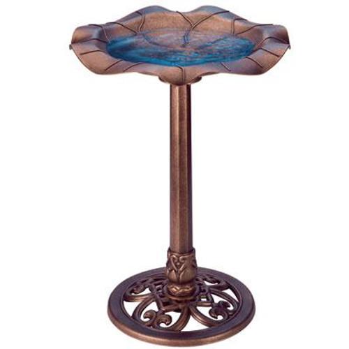 Lily Leaf Bird Bath Copper