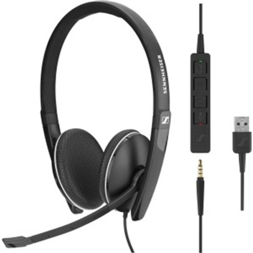 Both Sided Headset 3.5mm w USB