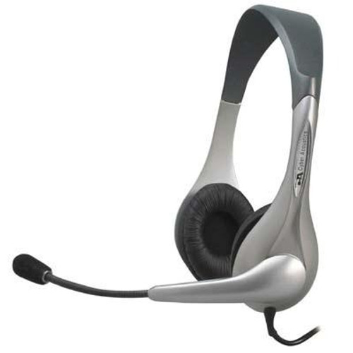 Cyber Acoustics Silver Stereo Headset/mic