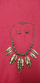 Nice Costume Jewelry Necklace and Earring Set (price includes tax) STK#31732-242