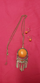 Nice Costume Jewelry Necklace and Earring Set (price includes tax) STK#31733-242
