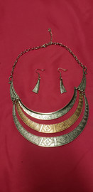 Nice Costume Jewelry Necklace and Ear Rings Set (price includes tax) STK#31735-242