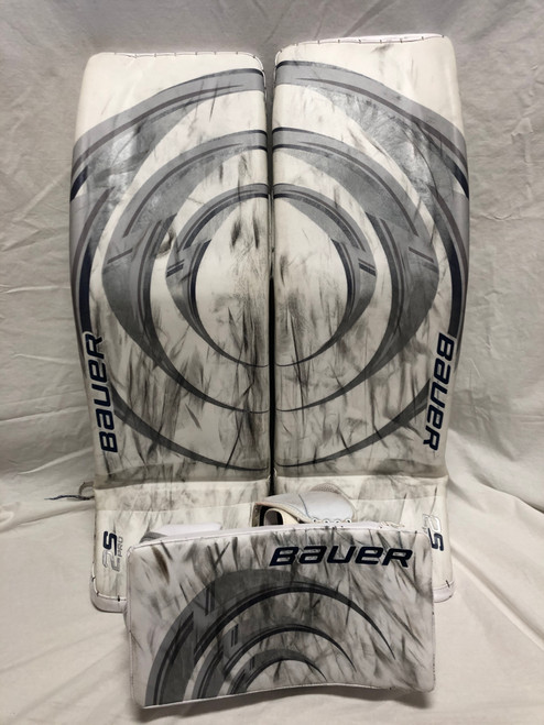 Johansson Pro Return Bauer 2S Game Used Pads and Blocker (36+1)