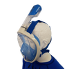 Full Face Snorkel Mask -Side view Blue