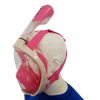 Full Face Snorkel Mask -Side view Pink