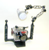 Ball Mount Clamp with Cutouts - Moves freely to almost any position