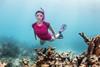 Akona Ladies Rashguard - Underwater - Fuscia