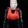 Snorkeling vest inflated for flotation