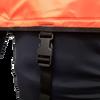 Snorkeling vest adjustable strap secure behind clips at waist