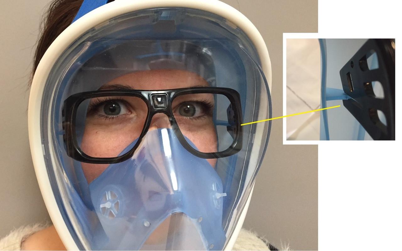 1e814c69d6 Optical Lens Support for Full Face Mask