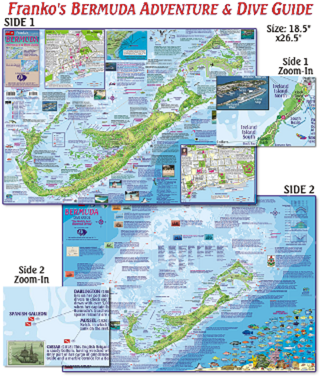 Bermuda - Dive Map | Scuba Gear Canada