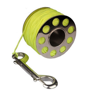 Finger Dive Reel 100 ft  - Stainless Steel - Yellow