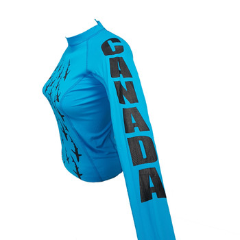 Blue Rashguard -left side