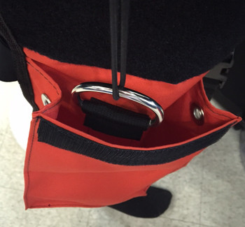 Thigh Storage Drop Pocket - Inside dring with bungee for securing accessories