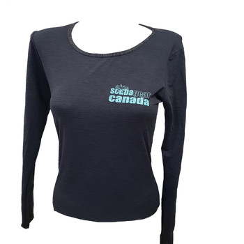 Ladies Charcoal Sharknado Rashguard - Front view