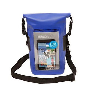 Smart Phone Waterproof Tote Dry Bag - Blue