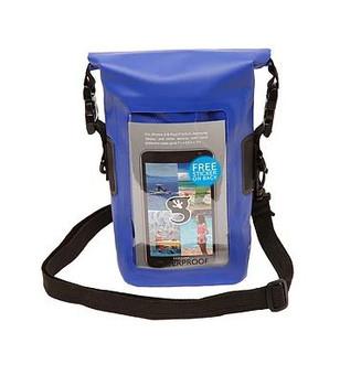 Smart Phone Waterproof Tote Dry Bag - Blue