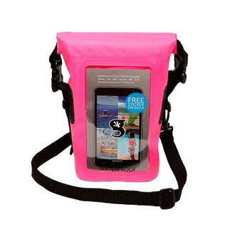 Smart Phone Waterproof Tote Dry Bag - Pink