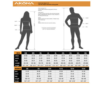 Akona Shorty - Men's - Sizing Guideline