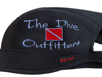 Scap - Black with The Dive Outfitters & red dive flag logo