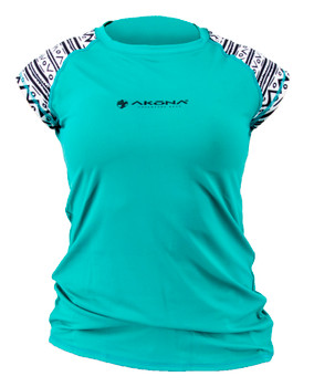 Akona Ladies Rashguard - Short Sleeve - Teal
