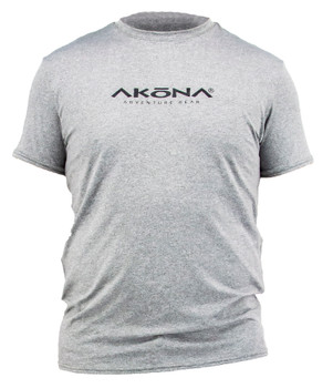 Akona Short Sleeve Rashgaurd - Men's  - Gray