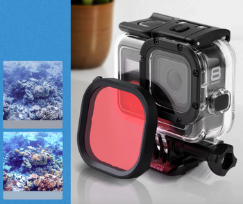 GoPro Hero8 Pink Filter for Snorkeling