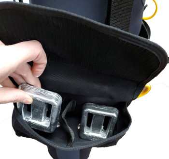DUI Weight Harness Version 3.0 - Pockets hold up to 20lb each side