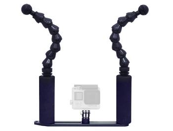 Big Blue Flexi Arm Tray fir Go Pro Camera