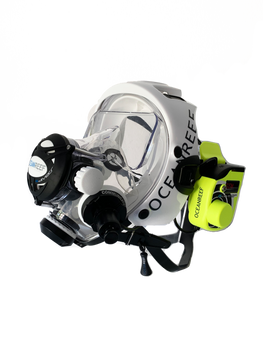 Ocean Reef GSM GDiver Comm Unit on Neptune mask
