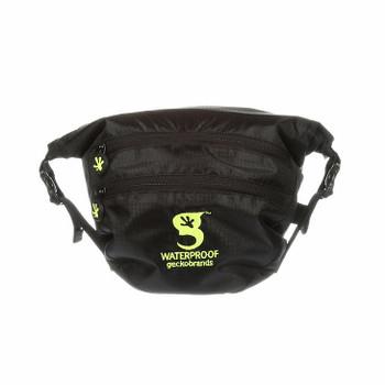Waterproof Lightweight Waist Pack - Black and Lime