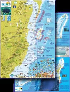 Waterproof Fish ID Card & Map - Belize