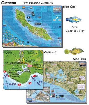Waterproof Dive Site Map - Curacao