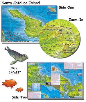 Waterproof Fish ID Card & Map - Catalina Island