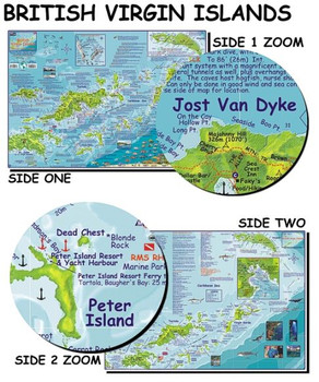 Waterproof Fish ID Card & Map - British Virgin Islands