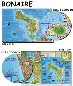 Waterproof Fish ID Card & Map - Bonaire