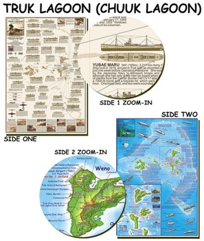 Waterproof Dive Site & Wreck Map - Truk Chuuk Lagoon