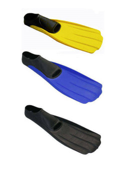 Full Foot Snorkeling Fins - Yellow, Blue, Black