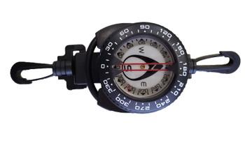Underwater compass on retractor