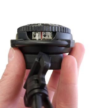 Underwater compass on retractor side view
