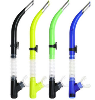 Basic Silicone Snorkel - Black, Yellow, Green, Blue
