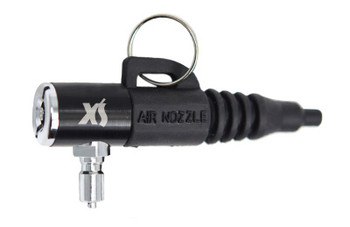 Combo air nozzle and tire filler attaches to your power inflator on your scuba BCD