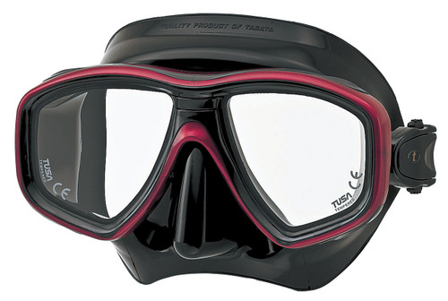 Tusa Ceos Mask - Black / Red