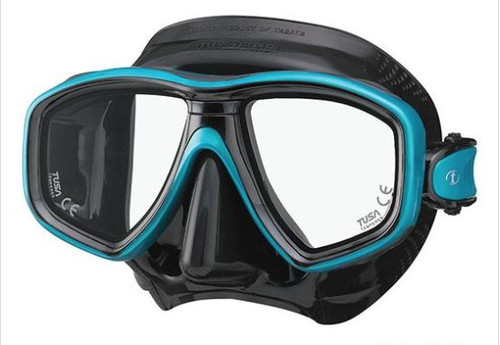 Tusa Ceos Mask - Black/Teal